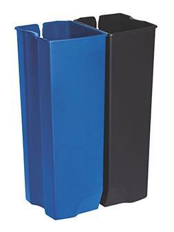 Rubbermaid Commercial Slim Jim End Step-On Trash Dual Rigid