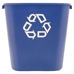 Rubbermaid FG295673 Blue Medium Deskside Recycling Container
