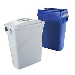 Rubbermaid Slim Jim Waste Container with Handles, 60 L - Gre