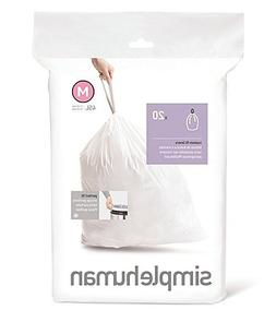 Simplehuman Bin Trash Can Bags Liners New 45l Litres Size M