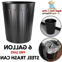 Wholesale CASE of 10 - Genuine Joe 6 Gallon Fire-safe Trash