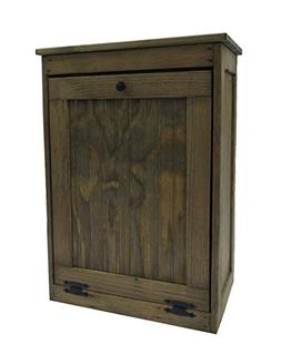Wooden Tilt-out Trash Bin Hinged Top