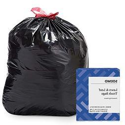 Amazon Brand - Solimo Lawn & Leaf Drawstring Trash Bags, 39