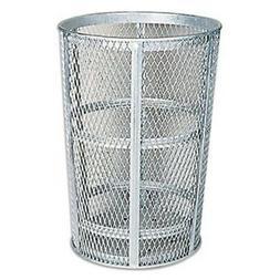 48-Gal Americana Powder Coated Street Basket  Color: Silver