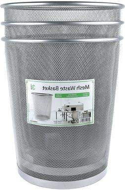 Authentic n Strong! Greenco-Mesh Wastebasket Trash Can 6 Gal