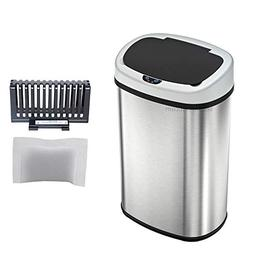 SensorCan Touchless Sensor Trash Can with Odor Control Syste