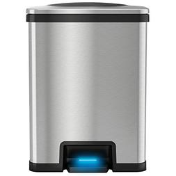 iTouchless AutoStep Automatic Step Trash Can, 49Liter / 13 G