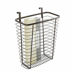 InterDesign Axis Over the Cabinet Wastebasket Trash Can or S