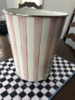 Mackenzie Childs Bathing Hut Enamel Bathroom Trash Can/Waste