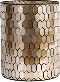 Bathroom Accessory Glass Mosaic Cleaning Decorative Wastebas