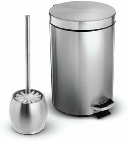 Home Zone Living Bathroom Pedal Trash Can, 1.8G/7L, with FRE