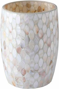 Bathroom Wastebasket - Glass Mosaic Decorative Trash Can Dia