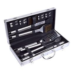 Home-Man 16-Piece BBQ Grill Tools Set-Barbecue Accessories w