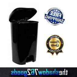 Black 13 Gallon Trash Can with Step On Foot Pedal Raise Lid