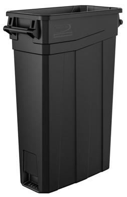 Black Plastic Durable Indoor Outdoor Home Office Trash Can 2