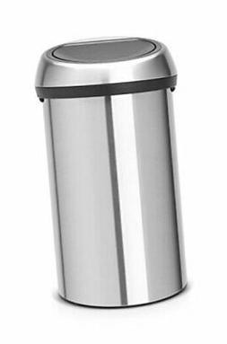 Brabantia Touch Trash Can 16 gallon/60 liter - Matte Steel 1