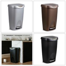 Umbra Brim 13 Gallon 50 Litre Trash Can with Lid Durable eas