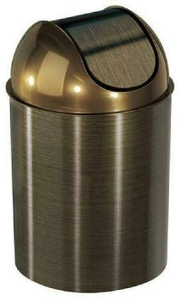 Bronze Trash Can Garbage Wastebasket Wastebasket With Lid Ba