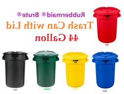 Rubbermaid Brute 44 Gallon Trash Can, Ingredient with Lid
