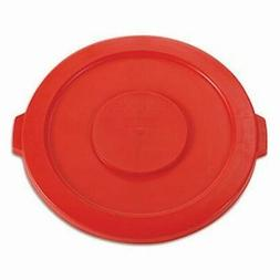 BOX 32 Gallon Brute Container Flat Lid - Round - 1 EachRed