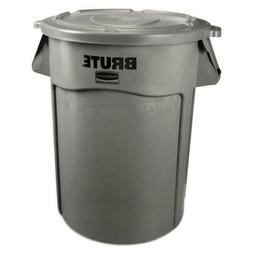 BRUTE 55-Gal Round Containers, Gray