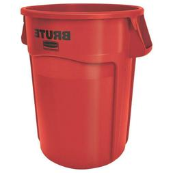 Rubbermaid Commercial BRUTE Trash Can, 32 Gallon, Red, FG263
