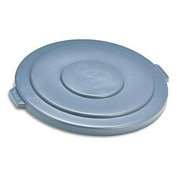 Rubbermaid Commercial BRUTE Trash Can Flat Lid, Round, Gray,