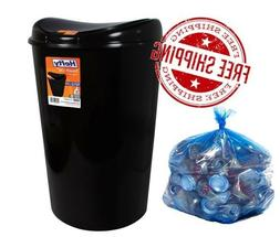 Can Trash 13 Gallon Tall With Lid Touch Plastic Garbage Bin