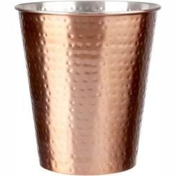 Home Wastebasket Can Trash Metal Copper Waste Basket Bathroo