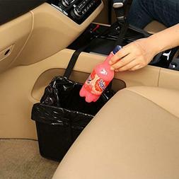 Car Garbage Can Bin Trash Portable Storage Auto Hanging Wast
