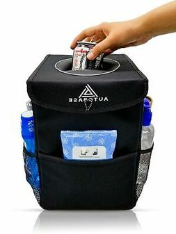 Autobase Car Trash Can with Lid & Storage Pockets | Interior