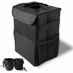 Car Trash Can with lids Car Garbage Bag Hanging for Headrest