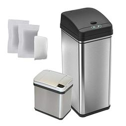 iTouchless CDZT02CF03 Combo Pack Sensor Trash Cans with 5 Fi