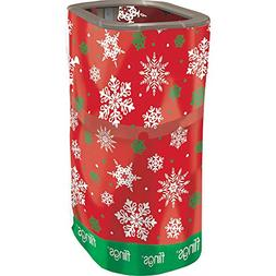 Amscan Christmas Red Snowflake Fling Bin | Party Supply