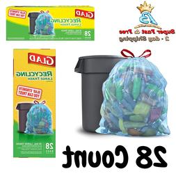 Glad Clear Recycling Drawstring Large Trash Bags, Clear, 30
