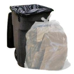 Clear 65 Gallon Trash Bags, 50 Bags Per Case