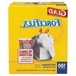Glad CLO70427 Drawstring ForceFlex Tall Kitchen Bags 13 gall