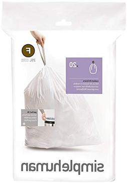 simplehuman Code F Custom Fit Trash Can Liner, 1 refill pack