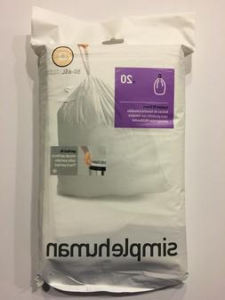 simplehuman Code Q Custom Fit Trash Can Liner, 1 refill pack