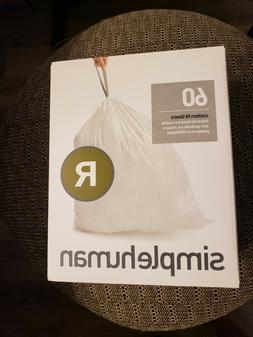 simplehuman Code R Custom Fit Liners, Drawstring Trash Bags,
