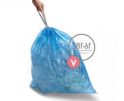 simplehuman Code V Custom Fit Recycling Trash Can Liner, 12