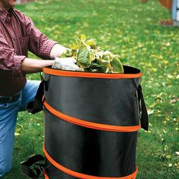 Collapsible Pop-Up Camp Trash Can Portable Outdoor Garbage H