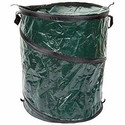 Collapsible Trash Can- Pop Up 33 Gallon Trashcan Garbage Zip