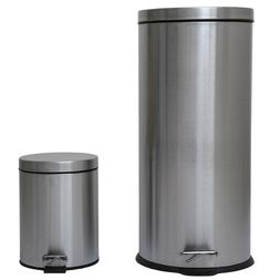 Combo 8 Gallon & 1.3 Gallon Trash Can with Removable Buckets