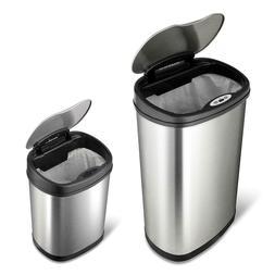 Combo Motion Sensor Trash Can, Stainless Steel, 13.2 / 3.2 g
