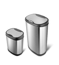 Nine Stars Combo Sensor Trash Can Stainless Steel 13.2 gal /