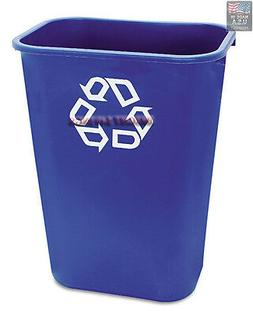 Janico 1037BL-12 41 Qt Rectangular Wastebasket Pack of 12 Recycle Can Blue