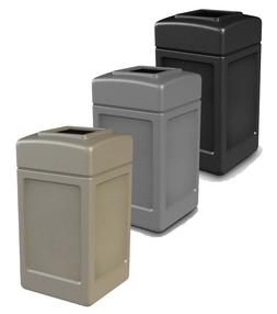 Commercial Outdoor Trash Can Large 42 Gallon Site Lot Garbag