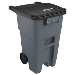 RUBBERMAID COMMERCIAL PRODUCTS FG9W2700GRAY Trash Can,50 gal