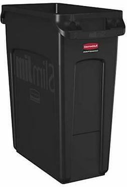 Rubbermaid Commercial Vented Slim Jim Trash Can Waste Recept